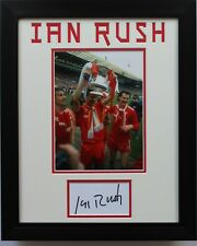 FRAMED Ian Rush In Liverpool Shirt HAND SIGNED Autograph Photo Mount Display COA