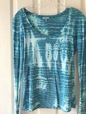 Subtle Luxury Top Turquoise tie-die. Super Soft and cute. Size M/L