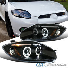 For Mitsubishi 06-11 Eclipse LED Halo Projector Headlights Head Lamps Black Pair