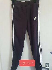 Adidas Navy Joggers Age 13-14