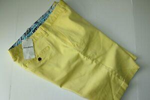 Tommy Bahama Shorts Boracay Misty Sunshine Yellow T815546 Flat New 34 Waist