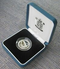 2007 silver proof £1 (one pound) coin, cased with CoA from RM