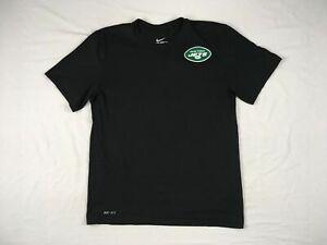 New York Jets Nike Short Sleeve Shirt Men's Black Dri-Fit Used Multiple Sizes
