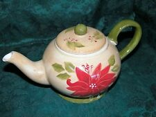 Ambiance Collection Fleur de Noel Holiday Christmas Teapot