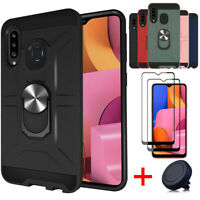 For Samsung Galaxy A20S Shockproof Military Case Cover/Screen Protector/Holder