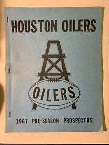 1967 Houston Oilers AFL Football Pre-Season Prospectus VERY GOOD Cond SCARCE