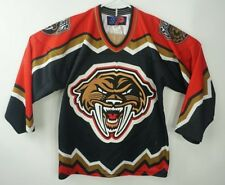 Rare Tacoma Sabercats Sp Mission Hockey Jersey Boy Size L/Xl Made in Canada