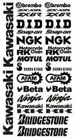 FE ADESIVI decal sponsor technical moto KAWASAKI kit set motogp wsbk race racing