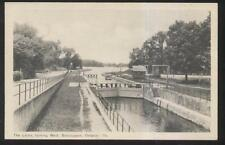 RP POSTCARD BOBCAYGEON, CANADA CANAL LOCKS LOOKING WEST 1930'S