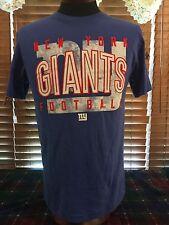 Men's NEW NFL TREAM APPAREL S Small Blue NY Giants Football T-Shirt