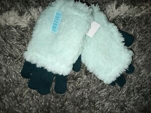 Justice cozy sherpa gloves BRAND NEW ONE SIze teal/aqua