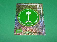 N°332 BADGE SAUDI ARABIA PANINI FOOTBALL JAPAN KOREA 2002 COUPE MONDE FIFA