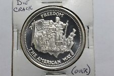 1 OZ 999 Silver Art Round The American Way Johnson Matthey 1985