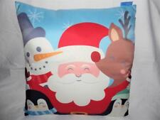 SANTA AND FRIENDS CHRISTMAS CUSHION COVER WITH INSERT 48CM X 48CM
