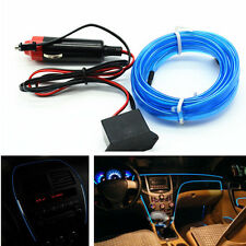 Car Blue Panel Interior Trim Light Cold EL Neon Lamp Atmosphere Glow OLED Strip