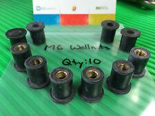 Wellnuts Metric M6 Windscreen/Fairing Rubber Well Nuts