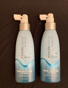 LOT of 2-HAIRMAX~For Density~Acceler8 Hair Booster + Nutrients 4oz/118ml. NEW