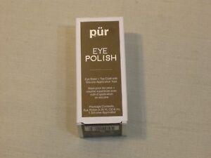 NIB Pur Eye Polish Eye Base + Top Coat Suede Tone 0.28 FL oz.