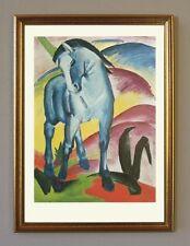 Franz Marc Blaue Pferde I Faksimile von Ölgemälde 1 im Goldrahmen Expressionismu