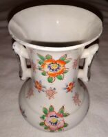 Vintage 1930's - 1940's Japan Multi Colored Floral Vase