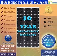 New 190W Watt 24v Top Grade Monocrystalline Solar Panel Mono Off Grid Tied