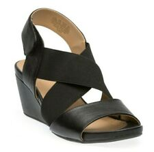 Naturalizer Women's Cleo Wedge Sandals Black Size 9.5 W