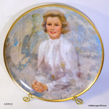 Vintage 1983 Princess Grace Portrait Plate Hamilton Collections 1983 Coa Mib