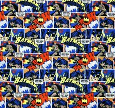 DC Comics Batman Comic Pop Orange 100% Cotton Fabric FAT QUARTER