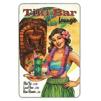 Tiki Bar Lounge Playing Cards Hawaii Hula Girl Island Heritage Acrylic Case New