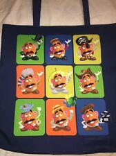 Disney Parks Toy Story Mr. Potato Head Tote Bag Purse Handbag NEW