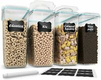Cereal Container Storage [Set of 4] - 100% Airtight Food Storage Containers $35