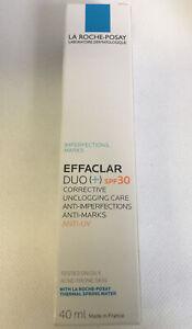 LA ROCHE-POSAY EFFACLAR DUO (+) SPF 30 CORRECTIVE CARE 40ml - New -(493)