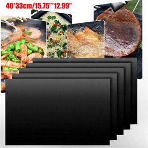 Non-Stick BBQ Grill Mat Oven Liners Teflon Reusable Cooking Baking Sheet Pat