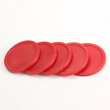 5Pcs Red 2-inch  Mini Air Hockey Table Pucks 50mm Puck Children Table New N#S7