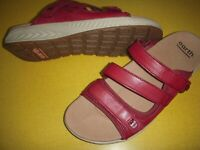 Earth Mira Loures Leather Adjustable Slides Sport Sandals Women's 8 M Red 8M