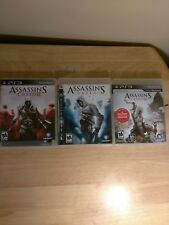 Assassin's Creed PS3 1, 2, & 3 PS3 Trilogy Collection Tested Playable