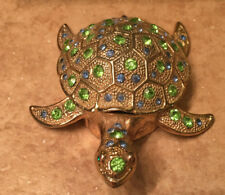 Turtle Jeweled Trinket Box with Crystals