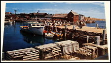 Old Boats & Lobster Traps -TWharf Rockport, Cape Ann MA- Vintage Postcard -1950s