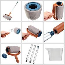 6Pcs/set Paint Roller Brush Handle Pro Flocked Edger Room Wall Painting Runner N