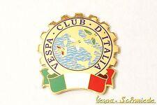 """VESPA IN METALLO-TARGHETTA """"VESPA CLUB D'ITALIA"""" - Club Italia emblema SMALTO EMAIL"""