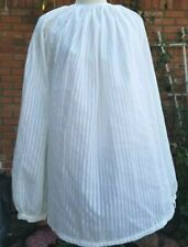 Woman's Civil War Era White 100% Cotton Sheer Guimpe Blouse Showy Sleeves Sz 2X