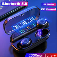 Mini Bluetooth 5.0 Headset LED Wireless TWS Earphones Earbuds Stereo Headphones