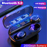 Mini Bluetooth 5.0 Headset LED Wireless TWS Earphones Earbuds Stereo Headphones