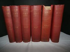 History of the Jews Vol. 1-6 Index FULL SET 1890's 1st Edition Heinrich Graetz
