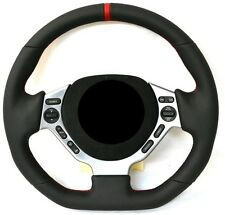 Nissan GT-R GTR flat bottom leather thick padded steering wheel core exchange