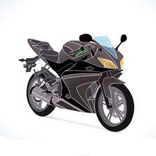 Lackiert Komplett Verkleidung20Stück-Set für Yamaha YZF-R125 08-13 Grau/Schwarz