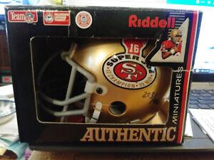 Super Joe 4 X Champion 3 X MVP Autographed 49ers  mini helmet