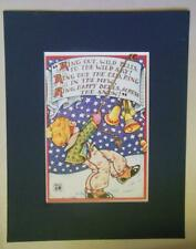 """Mary Engelbreit Print Matted 8 x 10 """"Ring Out Wild Bells"""""""