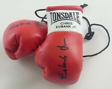 Autografiado Mini Guantes De Boxeo Chris Eubank Junior