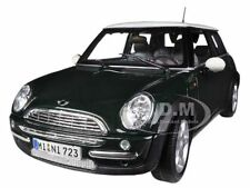 MINI COOPER WITH SUN ROOF GREEN 1:18 DIECAST MODEL CAR BY MAISTO 31656